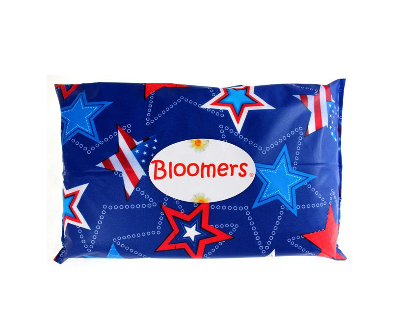 American Flag, Veteran, Memorial Day, Labor Day, Red White and Blue Stars, 4th of July, Independence Day, Patriotic, single use disposable change kit, infant, adult, senior, incontinence, newbloomers, bloomers, lux gotta change