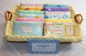 baby shower, diaper change kit, infant, bloomers, newbloomers